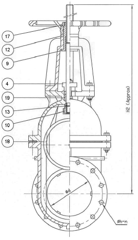 105F Flanged Cast Iron Gate Valve - OS&Y, Rising Stem