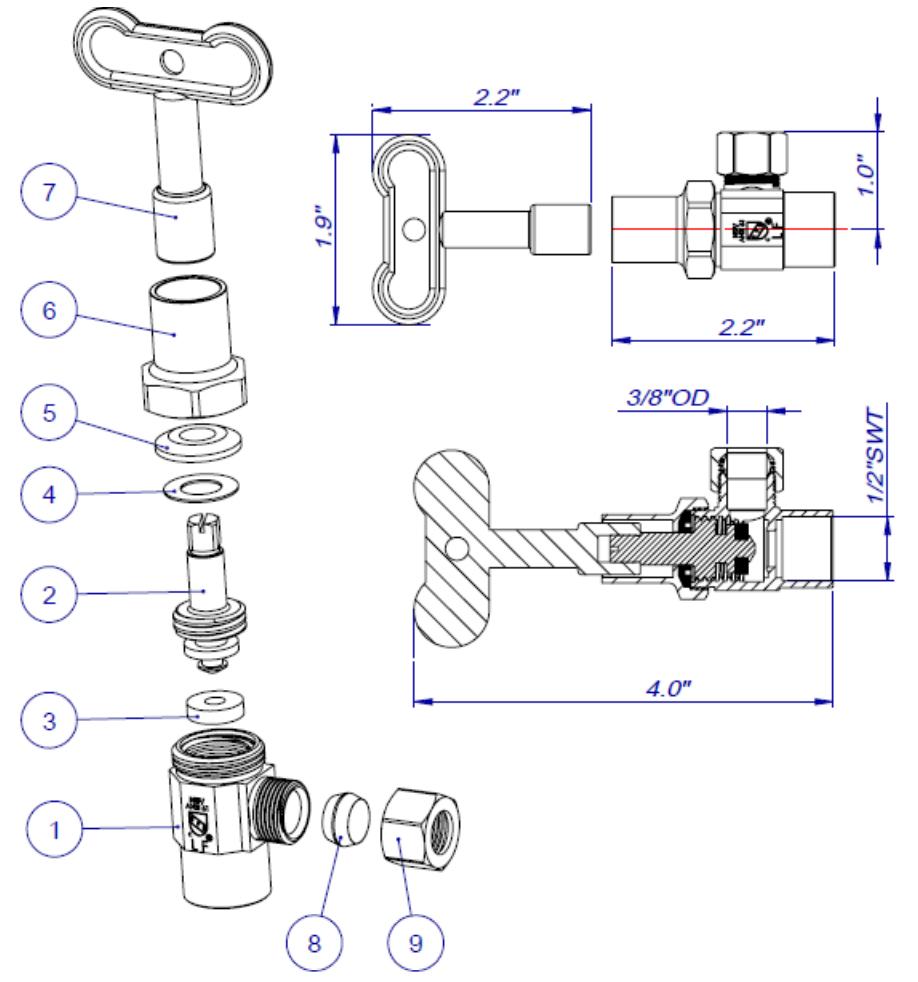 "Class Matco 200T07 1-1//2/"" Bronze Globe Valve 1-1//2 Fnpt Details about  /173899 New-No Box 125"