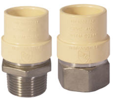 Genova tca transition adapter in spigot cpvc