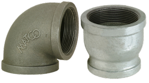 150# Black & Galvanized Malleable Iron Pipe Fittings