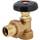 Image of AHV Angle Hot Water Radiator Supply Valve - Brass