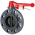 Image of B1-RLO Wafer Style PVC Butterfly Valve - Lever Opertaor