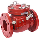 Image of 120WC Ductile Iron Flanged Check Valve with Outside Lever & Weight - AWWA
