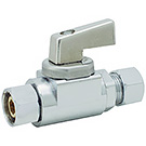 Image of 25-2000LF Lead Free 1/4 Turn Straight Supply Valve Retro-Fit 3/8 OD Captured Nut X 3/8 OD Comp