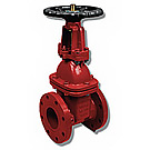 Image of 105W Flanged Cast Iron Gate Valve- OS&Y- AWWA Certified