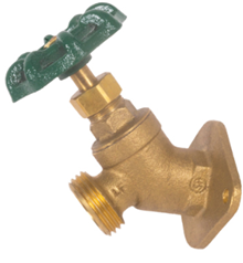 Image of 206FLF Lead Free Large Flange Sillcock - Brass Body