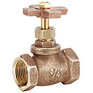 Image of 201X Brass Stop Valve with Cross Handle