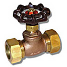 Image of 201CMLF Lead Free Brass Stop Valve - Compression Ends
