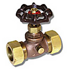 Image of 202CMLF Lead Free Brass Stop and Waste Valve - Compression Ends