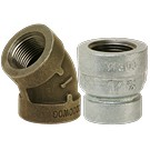 Image of 300# Black & Galvanized Malleable Iron Pipe Fittings