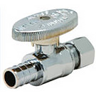 Image of 26-1004PXLF Lead Free 1/4 Turn PEX Straight Supply Valve 1/2 PEX X 3/8 OD Comp