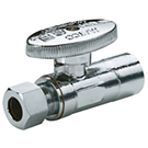 Image of 26-1010LF & 26-1010BLF Lead Free 1/4 Turn Supply Valve 1/2 SWT X 3/8 OD Comp