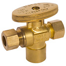 "Image of 26-2009BLF Lead Free 1/4 Turn Supply Valve 1/2"" SWT x 3/8"" OD x 3/8"" OD"