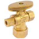 "Image of 26-2021BLF Lead Free 1/4 Turn Supply Valve 5/8"" OD Compression x 3/8"" OD   Compression x 1/4"" OD Compression"