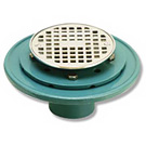 Image of Cast Iron Shower Drain- Heavy Duty w/ Bolt Down Ring