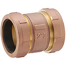 Image of 450T Compression Coupling- Brass- Short