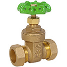 Image of 519LF Lead Free Brass Compression Gate Valve