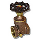 Image of 517 Brass Gate Valve with Drain
