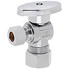 Image of 26-1019LF & 26-1019BLF & 26-1019CPVC Lead Free 1/4 Turn Angle Supply Valve 5/8 OD Comp X 3/8 OD Comp