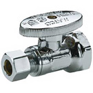 Image of 26-1004LF Lead Free 1/4 Turn Straight Supply Valve 1/2 FIP X 3/8 OD