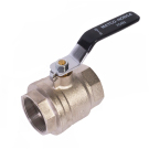 Image of 754N Ball Valve - Full Port, Forged Brass, Nickle Plated