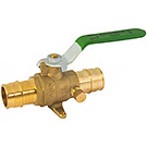 Image of 754PXCELF Lead Free Cold Expansion F1960 Pex Ball Valve - Full Port, Forged Brass