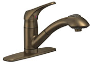 Image of Single Handle Kitchen Pull-Out Faucet BL-153ORB