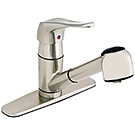 Image of Single Handle Kitchen Pull-Out Faucet CL-150SS