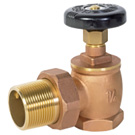 Image of BARVYN Steam Radiator Angle Valve - Brass