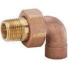 Image of ENT Radiator Supply Valves - Union Elbow, Brass
