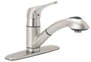 Image of Single Handle Kitchen Pull-Out Faucet BL-153SS