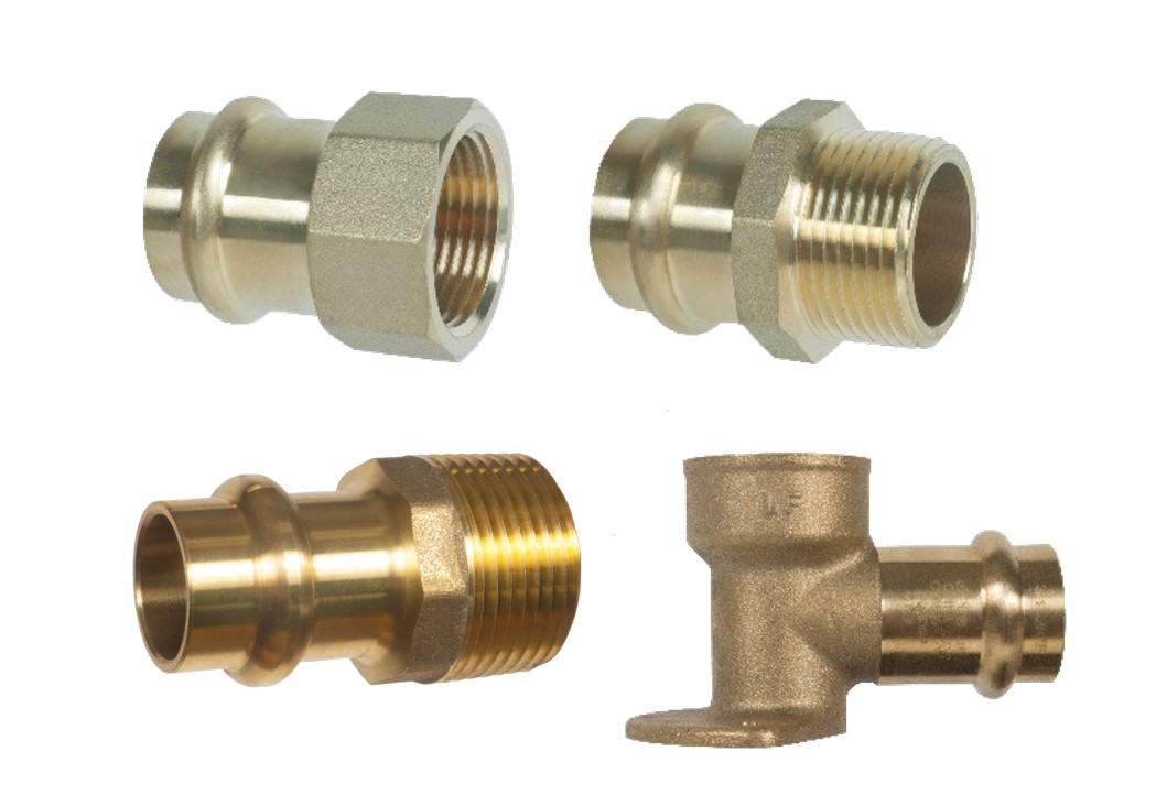 Image of Brass Press Adapter Fittings - Lead Free