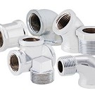 Image of Chrome Plated Pipe Nipples
