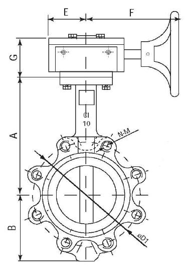 b6 butterfly valve