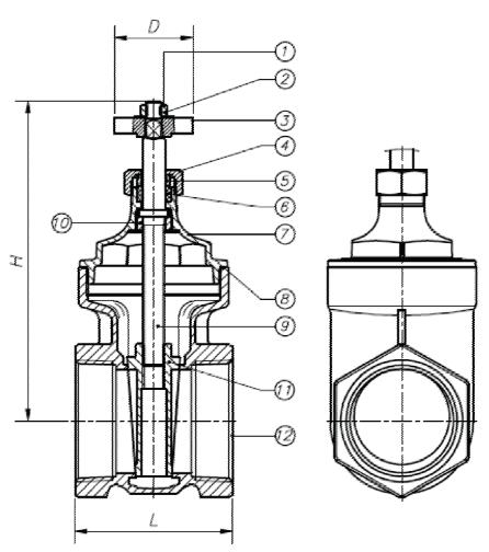 514lf lead free brass gate valve