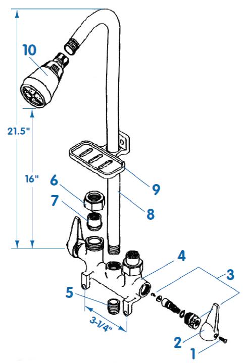 Utility Shower Faucet Ve 740c