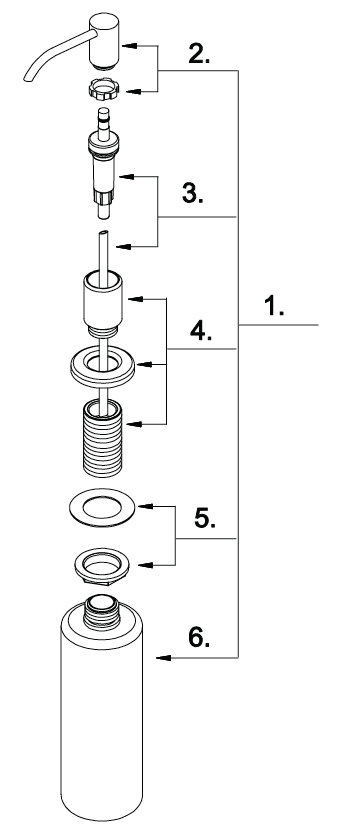 Oil Rubbed Bronze Soap Dispenser Pump